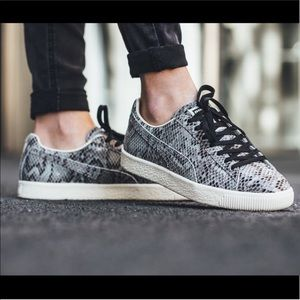 PUMA 'The Clyde' Low Top Reptile Sneaker